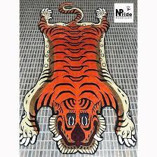 silk tibetan tiger skin rug carpet 3