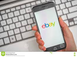 Online shopping on eBay editorial stock image. Image of auction ...