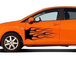Black Flame Car Decal Style And Apply