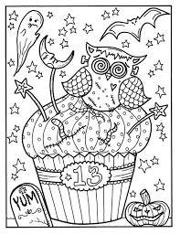 Halloween Cupcakes Deel 2 Printables Volwassen Kleurplaten Etsy