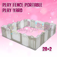 Baby Playpen Childrens Play Fence Portable Play Yard For Kids Infant Plastic Room Divider 20 2 Shopee Philippines