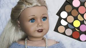 how to put makeup on your ag doll