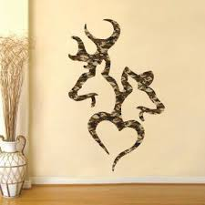 Browning Deer Heart Camo Realtree Real Tree Buck By Stickerscrate 19 99 Wall Decor Bedroom Camo Rooms Hunting Decor