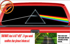 W1021 Pink Floyd Moon Dark Side Car Decal Sticker Rear Window Truck Suv Wrap For Sale Online Ebay