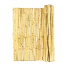 Vigoro 3 4 In D X 6 Ft H X 8 Ft Natural Rolled Bamboo Fence Hdd Bf023 The Home Depot