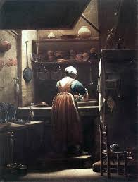 Giuseppe Maria Crespi The Scullery Maid 21 X28 Wall Decal Traditional Wall Decals By Art Megamart