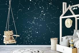 Custom Star Map Constellation Mural Wallpaper Star Map Etsy