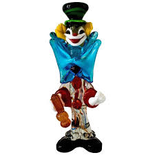murano glass clown italy 1950s for