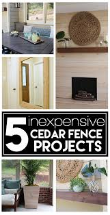 5 Inexpensive Diy Projects Using Cedar Fence Boards Deeplysouthernhome