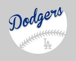 La Dodgers Dual Color Baseball Vinyl Decal Car Window Etsy
