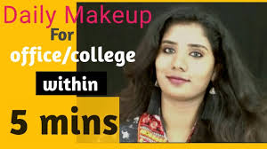 simple college office makeup look using