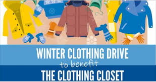 the clothing closet winter clothing drive
