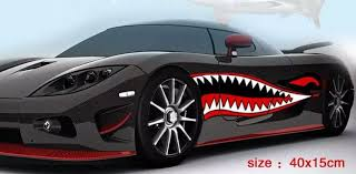 Car Body Shark Sticker Auto Shark Teeth Modification Sticker Boat Modified Car Decal Car Styling Cool Shark Mouth Sticker 1 Pair Shark Mouth Stickers Shark Stickershark Mouth Aliexpress