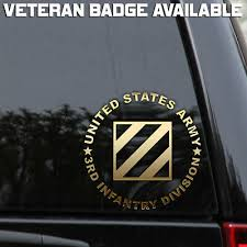 Army 3rd Infantry Division Decal Sticker Veteran Window Laptop Patch Rock Marne Ebay