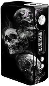 Amazon Com Skin Decal Vinyl Wrap For Voopoo Drag 157w Tc Resin Reg Vape Mod Stickers Skins Cover Glowing Skulls In Smoke