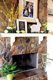 easter fireplace mantel