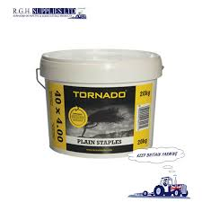 20kg Tornado Barbed Fencing Staples 40 X 4mm Stockfence Netting Wire Rgh Supplies Ltd