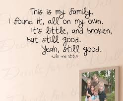 This Is My Family Lilo And Stitch Wall Decal Quote B96 Printing Jay