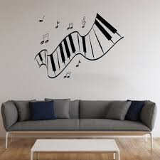 Piano Vinyl Sticker Musical Instrument Wall Decal Music Decals Etsy