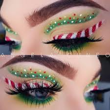 85 mesmerizing christmas makeup ideas