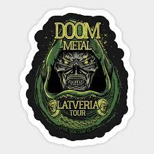 Doom Metal Doctor Doom Sticker Teepublic
