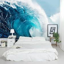Wallums Wall Decor Blue Ocean Wave Crest 8 X 144 3 Piece Wall Mural Wayfair