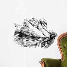White Swan Wall Decal Wallmonkeys Com