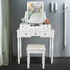 makeup vanity table and stool set