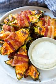 bacon wrapped jalapeno poppers dinner