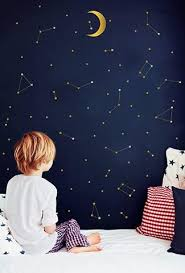 Gold Constellation Wall Decal Cozy Nursery