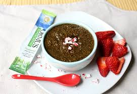 peppermint mocha chia pudding with
