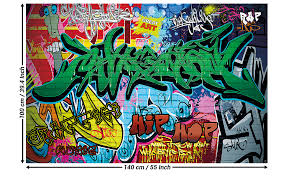 Amazon Com Kid S Room Nursery Poster Graffiti Picture Decoration Stencil Colorful Spray Paint Writing Pop Art Street Style Hip Hop Image Photo Decor Wall Mural 55x39 4in 140x100cm Home Improvement