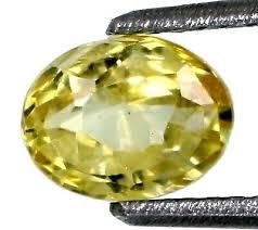 yellow sapphire ceylon 1 40ct oval