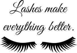 Amazon Com Juekui Fashion Wall Decal Lashes Make Everything Better Wall Sticker Women Beauty Eyes Eyelashes Quote Sticker For Bedroom Decoration Ws46 Black 28x20cm Home Kitchen