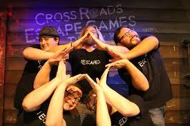 group picture pose cross roads escape