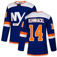 Cheap Men's New York Islanders #14 Tom Kuhnhackl Adidas Blue Alternate  Premier NHL Jersey