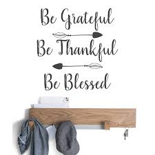 Be Grateful Thankful Blessed Hand Lettering Wall Quote Decal Poshvinyls