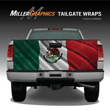 Mexican Flag Waving Truck Tailgate Vinyl Graphic Decal Wrap Ebay