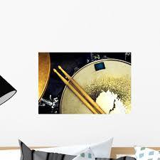 Music Background Drum Up Wall Mural Wallmonkeys Com