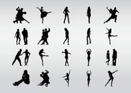 dancers silhouettes clip art free