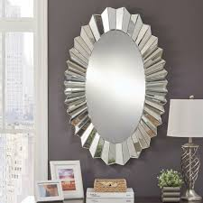 abney oval mirrored frame wall mirror