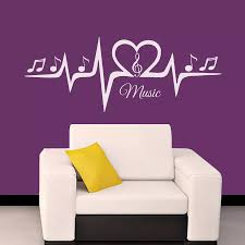 Free Shipping Home Wall Decals Musical Puls Treble Clef Notes Decal Vinyl Sticker Bedroom Art Decoration Mural A 47 Decoration Murale Vinyl Stickersart Decor Aliexpress