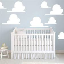 Amazon Com Cloud Wall Decals Cute Clouds Nursery Wall Sticker Set Of 8 Clouds Wall Decal Childrens Room Decor Kids Room Teen Room Cloud Wall Art Kitchen Dining