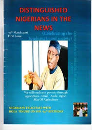 """Ada Russell on Twitter: """"First Issue of DISTINGUISHED NIGERIANS IN THE NEWS  MAGAZINE https://t.co/JkipTY9RWb… """""""