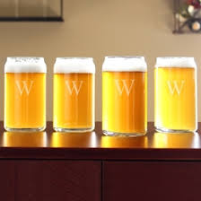 craft beer can glasses set of 4 on