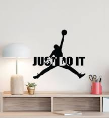 Jumpman Wall Decal Just Do It Michael Jordan Quote Basketball Etsy In 2020 Wall Decals Basketball Wall Decals Vinyl Wall Art Bedroom