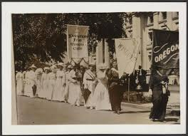 Image result for a large pro-suffrage march took place