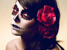 de los muertos inspired makeup