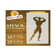 Body Builder Stencil N 2 Reusable Stencil For Gym Wall Decors Fabrics And Wood Signs