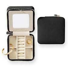 graham vegan leather travel jewelry case